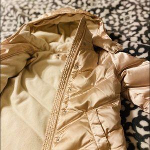 Tommy Hilfiger Girls Beige/Gold Jacket size 6-7